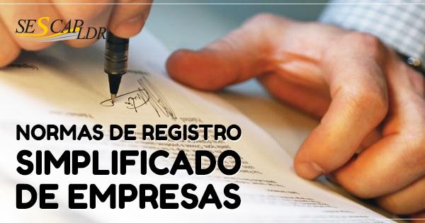 Normas de Registro Simplificado de Empresas