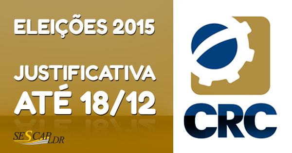 Eleição CRCs 2015: prazo de justificativa vai até 18 de dezembro