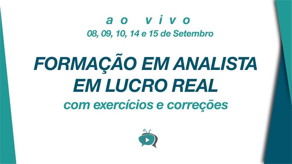 EAD - FORMAÇÃO EM ANALISTA EM LUCRO REAL