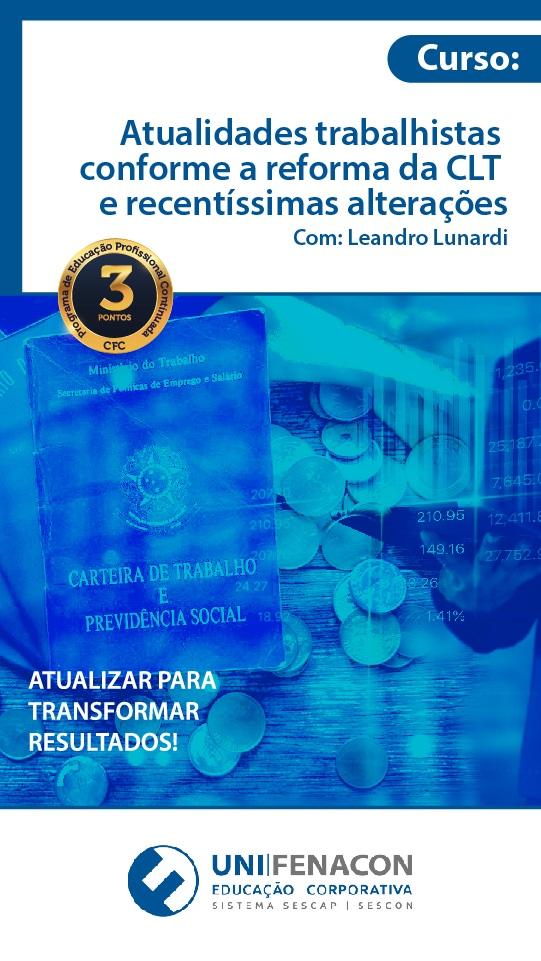 EAD - 3 Pontos - Atualidades Trabalhistas Conforme a Reforma da CLT e Recentíssimas Alterações
