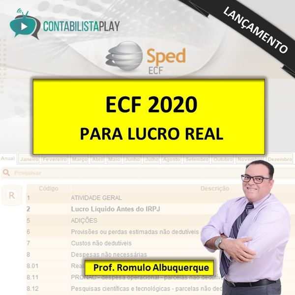 EAD - ECF 2020 - EXCLUSIVO LUCRO REAL