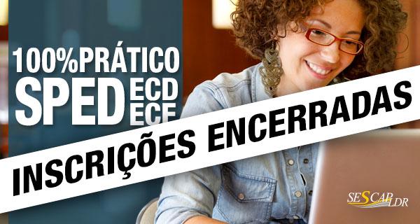 100% PRÁTICO - Curso ECD (SPED Contábil) e ECF versão 2.x – Prático no PVA com uso de notebook pelo participante (presumido, real e imunes/isentas)