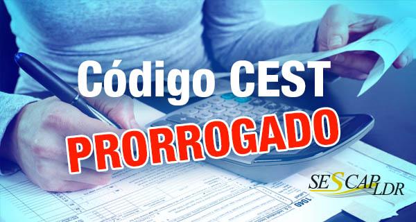 Código CEST - prorrogação - Obrigatoriedade a partir de 1º de outubro de 2016